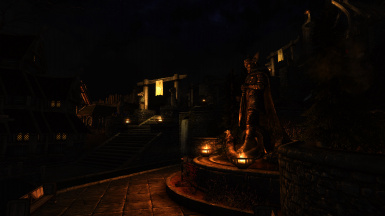 Whiterun Statue in Pitch Black Nights