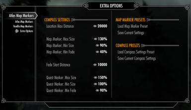 Compass Settings & Presets