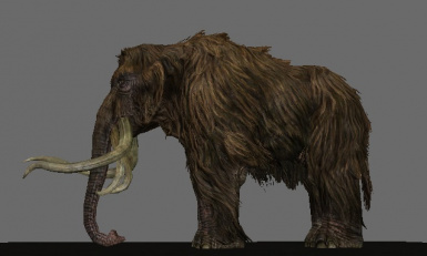Mighty Mammoths enlarges legs for an enhanced stance!