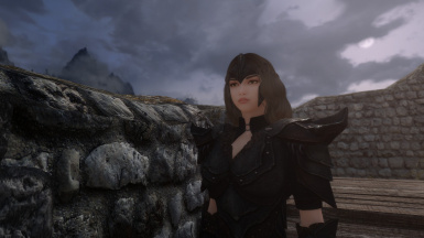v1.0E in Orchish Armor by A Girl's Heavy Armor before eyebrow and eye color changes