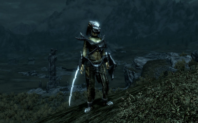 Female Yautja in Falmer Armor