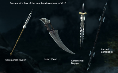 New and old hand weapons