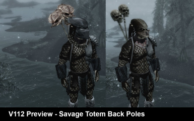 V112 Savage back Totem Poles