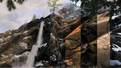 4K  Mountains and rocks by infinition