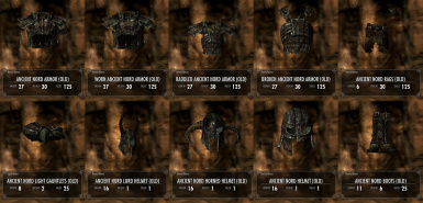 Draugr Armor with unique Inventory Models new in v6_1