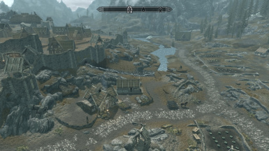 Whiterun gates and walls restored