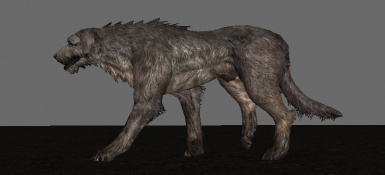 Honored hounds adjust jaw, head, neck and tail for a more aggressive appearance!