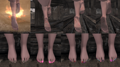 ZMD's Feet and Nails Art Texture Overlays for RaceMenu CBBE SE 4k
