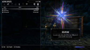 Imperial Child with Imperious - Races of Skyrim's passives.