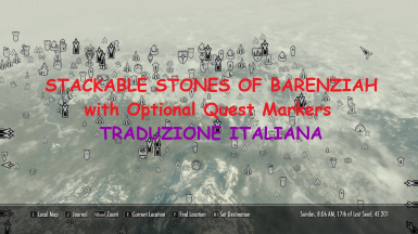 Stackable Stones of Barenziah with Optional Quest Markers - Traduzione Italiana