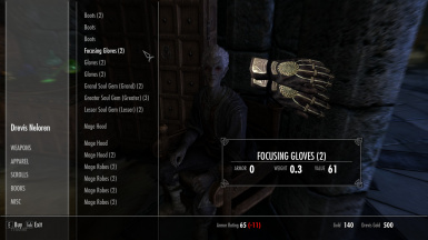 College of Winterhold Shop Fixes