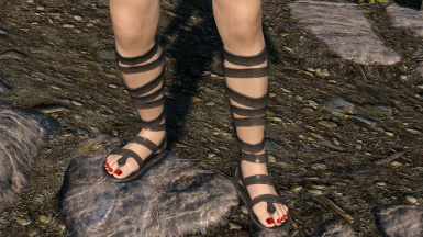 with my black sandals and apachii shop toe nail color.