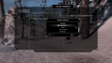 Player Voicesets for SSE - Custom Voice Version