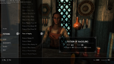 Longer potions Smithing Barter Enchanting Carryweight