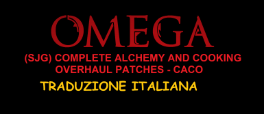 (SJG) Complete Alchemy and Cooking Overhaul Patches - CACO - Traduzione Italiana