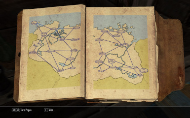 Wayshrine Map located at the Bannered Mare
