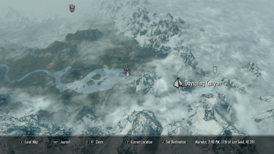 Skyrim Dayspring Canyon Map Marker