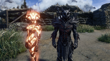 Flame Monarch and Dremora Lord