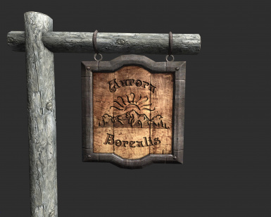 only Shop Sign Retexture - wood post will use what you have installed