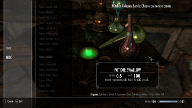 Witchery Potions