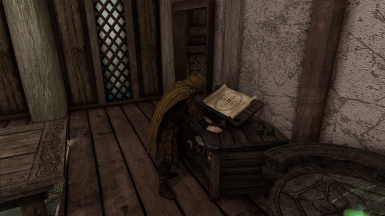 Farengar, about 2  seconds before bemoaning this damnable conflict that has claimed everyone's passions of late, and noting that he prefers his books and his spells