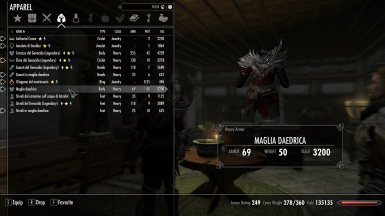 Daedric Mail as Heavy Set