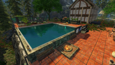 Lakeview Pool and Hot Bath EX for Hearthfire SSE