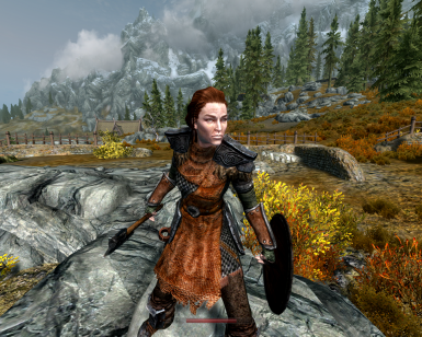 Realistic Female Ancient Nord Armor SSE
