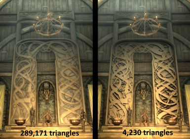 Comparison high poly vs low poly