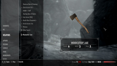Wood Axe Weight