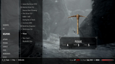 Pickaxe Weight