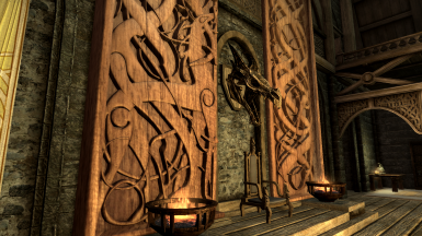Nordic Carving - Dragon Throne Wall replacer