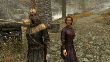 Brelyna and Mirabelle in their proper robes