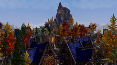 Whiterun Roofs Blue Recolored