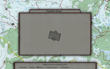 Local map with Dear Diary UI over the Marked Map