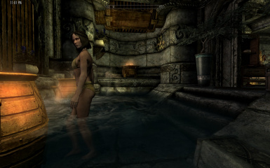Diziet's Player Home Bath Undressing for SkyrimSE