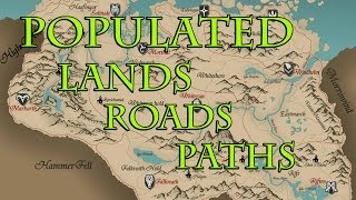 Populated Lands Roads Paths for SE ITA