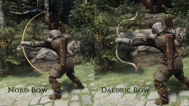 Nord Bow and Daedric Bow