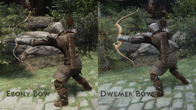 Ebony Bow and Dwemer Bow