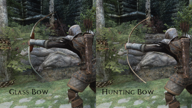Glass Bow and Hunting Bow