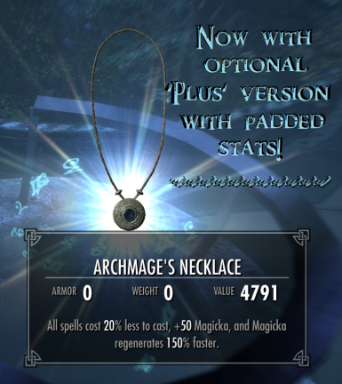 Archmage Necklace Plus - with Immersive College Compatability. SSE.