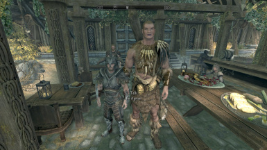 Bo Agrius standing next to the player character