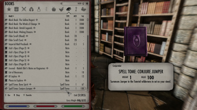 Tomes of known spells stay untouched by the mod.