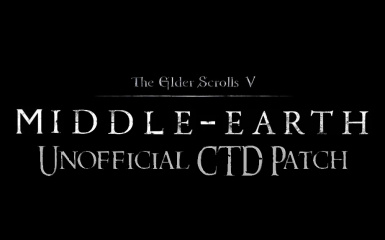 The Unofficial Middle Earth Redone CTD Patch
