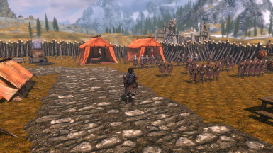 Camp Centratus inside the Whiterun Worldspace for Performance Conservation