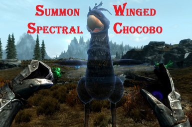 Summon spectral winged Chocobo