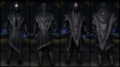 Black Archmage Robes (Light & Cloth)