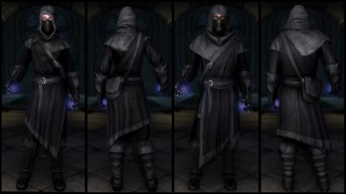 Black Mage Mantled Robes  (Light & Cloth)
