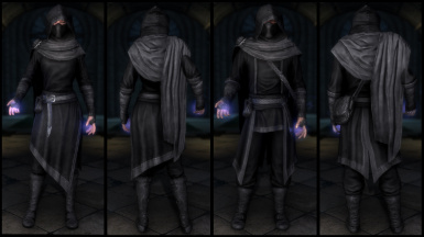 Black Mage College Robes  (Light & Cloth)