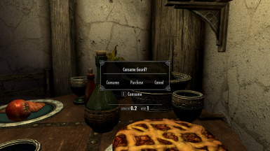 Taverns message box with buy option